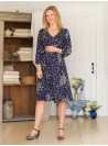 Skyler Dress in Navy by April Cornell
