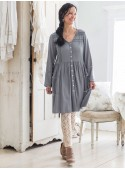 Minuet Tunic in Smoky Quartz | April Cornell - SOLD OUT