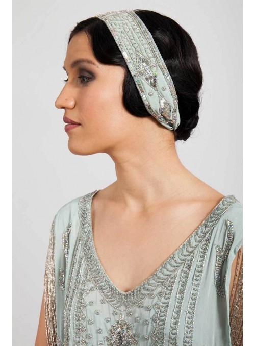 Paige Hairpiece in Mint by Tilda Knopf