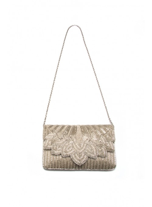 Sophie Handbag in Silver by Tilda Knopf