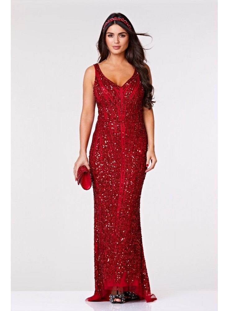 8eee5d6480 Romy Gatsby Style Gown in Red
