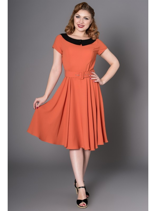 Lindy Dress in Rust by Sheen Clothing