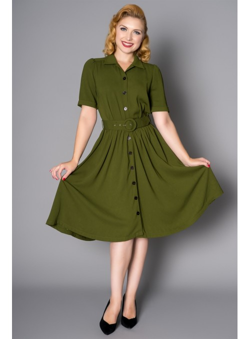 Gloria Dress in Green by Sheen Clothing