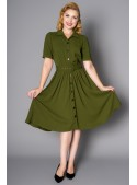 Gloria Dress in Green - SOLD OUT