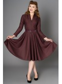 Hayworth Dress in Burgundy - SOLD OUT