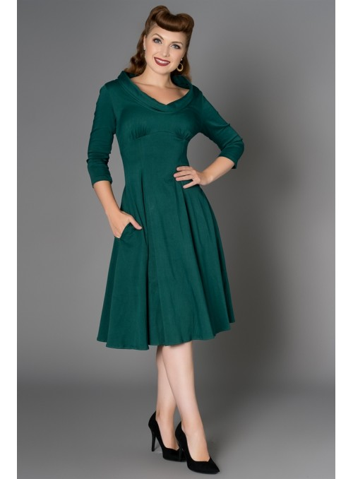 The Dandridge Dress in Green by Sheen Clothing