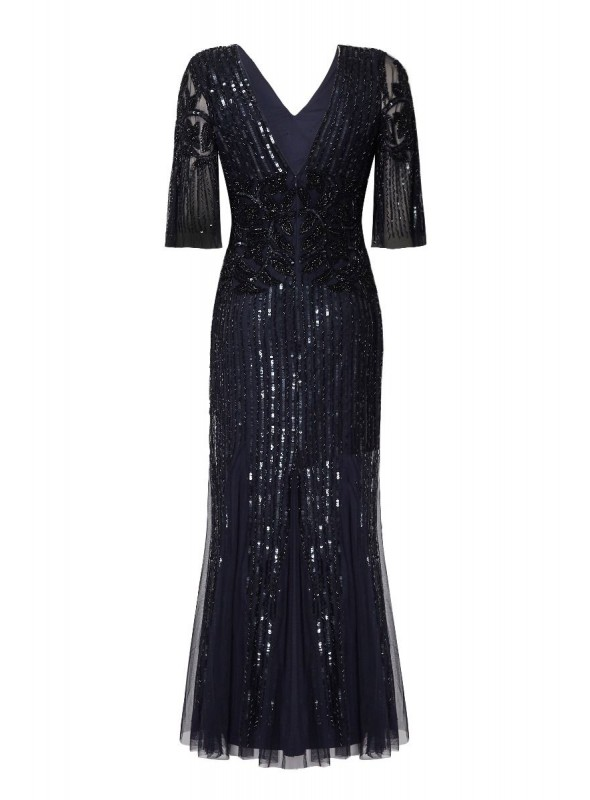 Galina Gown in Navy