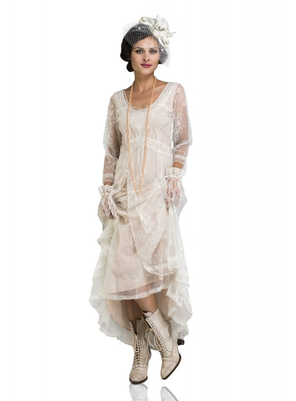 Downton Abbey Tea Party Gown in Ivory by Nataya