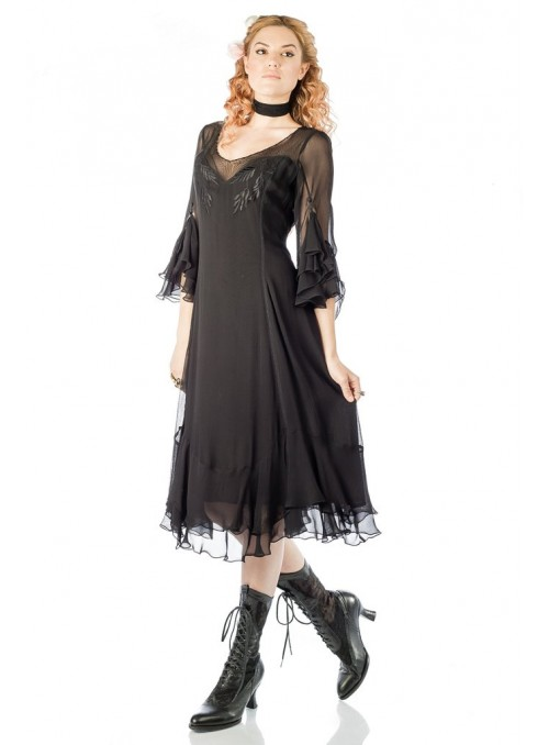 Vintage Inspired Black Dress by Nataya