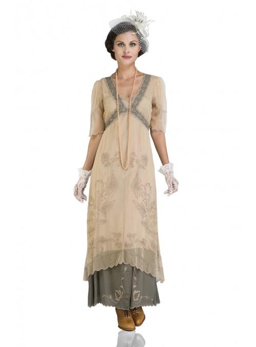 40007 New Vintage Titanic Tea Party Dress in Sage by Nataya