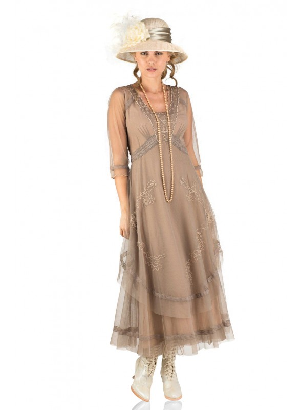 Mary Darling CL-163 Dress in Sand by Nataya