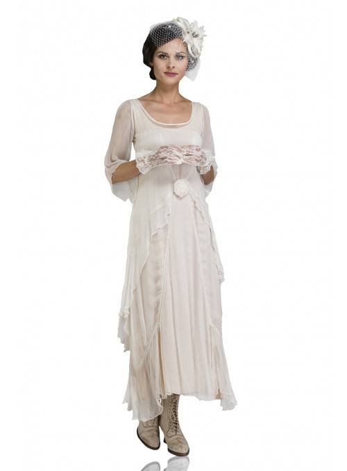 Great Gatsby Party Dress in Ivory by Nataya