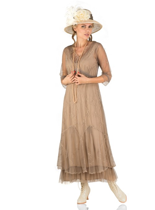 Somewhere in Time Dress in Sand by Nataya