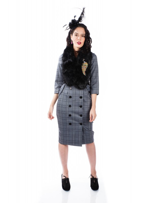 Lana Dress in Grey by Sheen Clothing