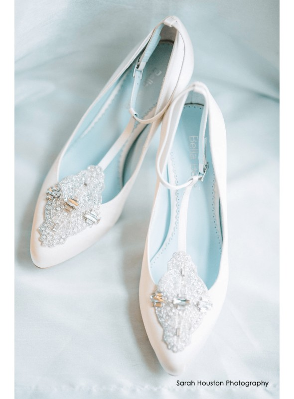 Art Deco Great Gatsby Bridal Shoes in White