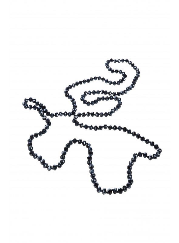 1920s Flapper Pearl Necklace in Jet
