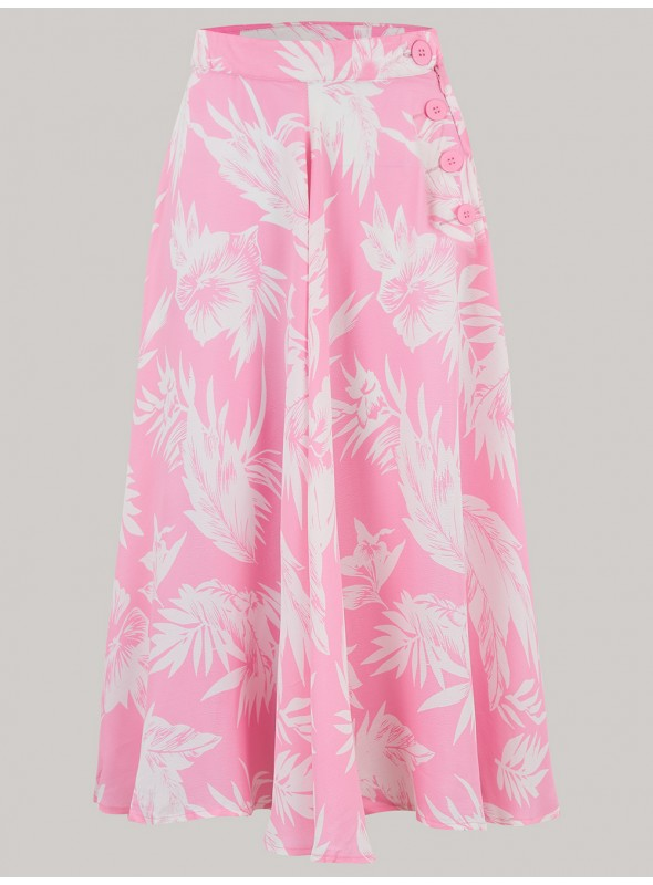 Maybelle Skirt in Pink Hawaii