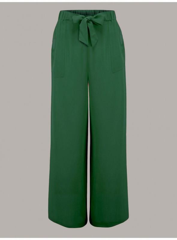 Gretta 1940s Trousers in Green