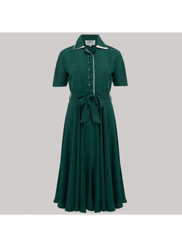 Lana 1940s Dress in Green