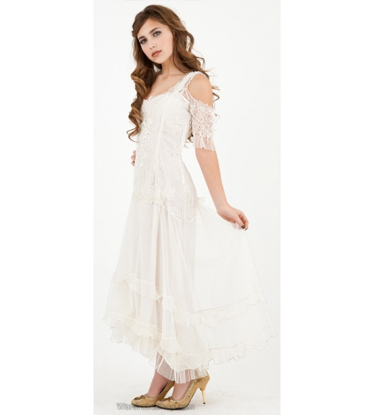 Venetian Wedding Dress in White by Nataya - SOLD OUT