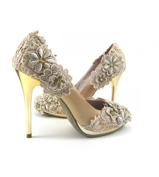 Cream Lace Wedding heels - SOLD OUT