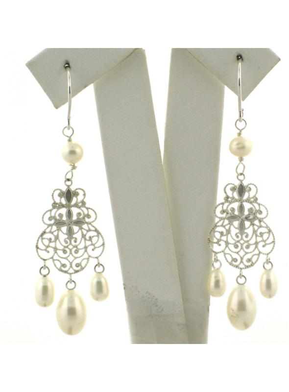 Vintage Style Wedding Pearl Earrings - SOLD OUT