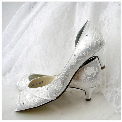 """Wedding hand Painted shoes in Ivory, Model """"Abbey"""""""