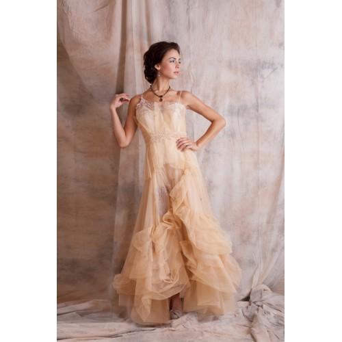 Dahlia Wedding Dress in Peach by Nataya