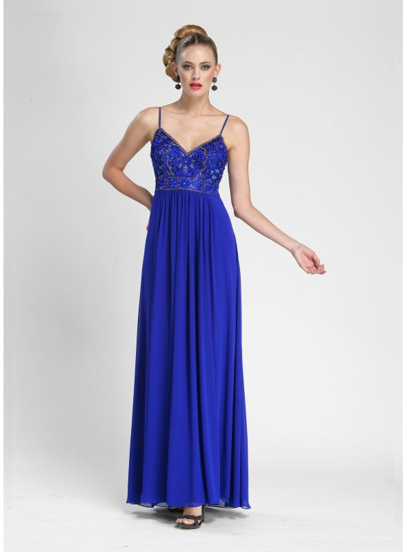 Sue Wong Long Spaghetti Strap Gown - N3402