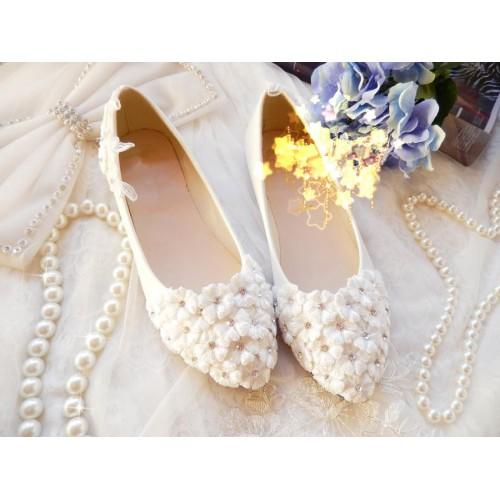 Daisy Vintage Style Wedding Flats - CM_L085