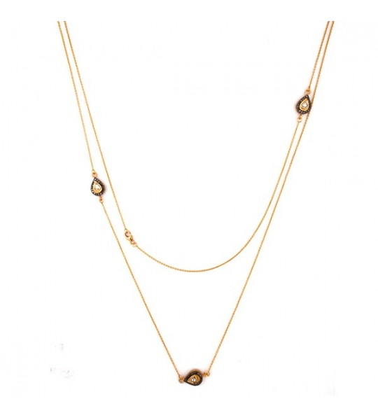 Almas Necklace - DWSDNK0032SLDI