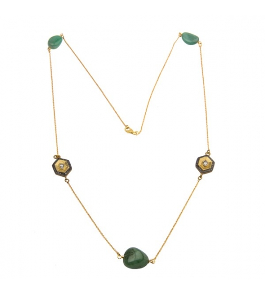 Almas Necklace - DWSDNK0017SLDIEM