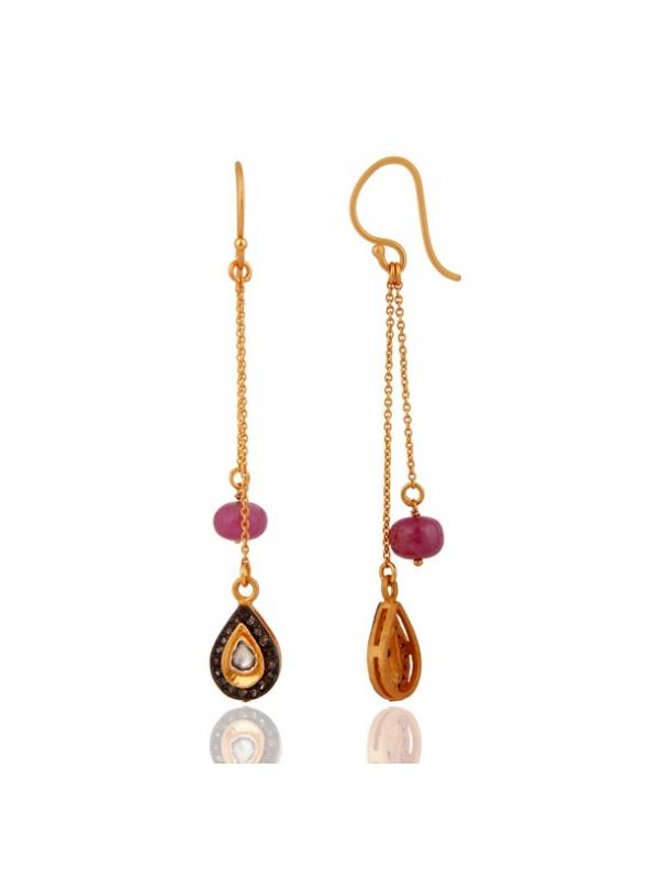 Almas Earrings - DWSDE0570SLDIRB
