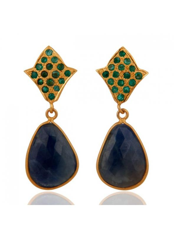 Almas Earrings - DWSDE0084SLEMSP