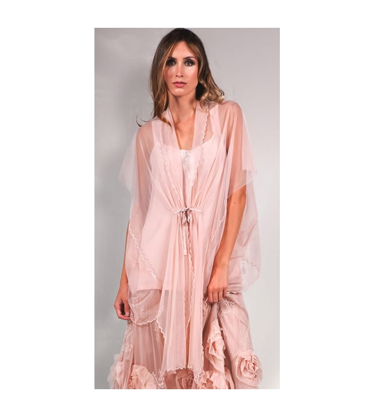 Asymmetric Tulle Airy Jacket in Pink by Nataya - SOLD OUT
