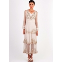 Fantasy Layered Chiffon Party Dress in Beige by Nataya - SOLD OUT