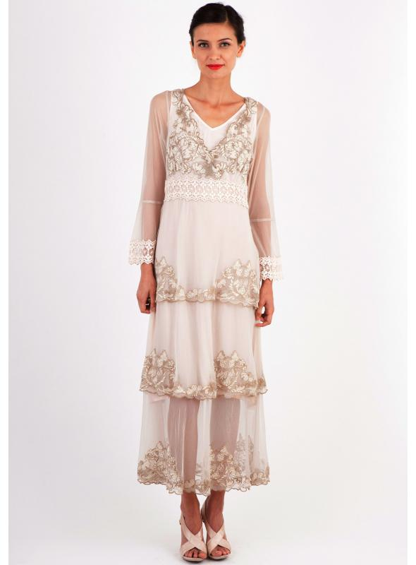 Nataya 183 Dress in Beige