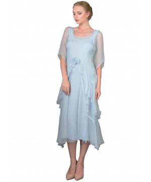 Layered Nataya Dress AL-10709 in Blue