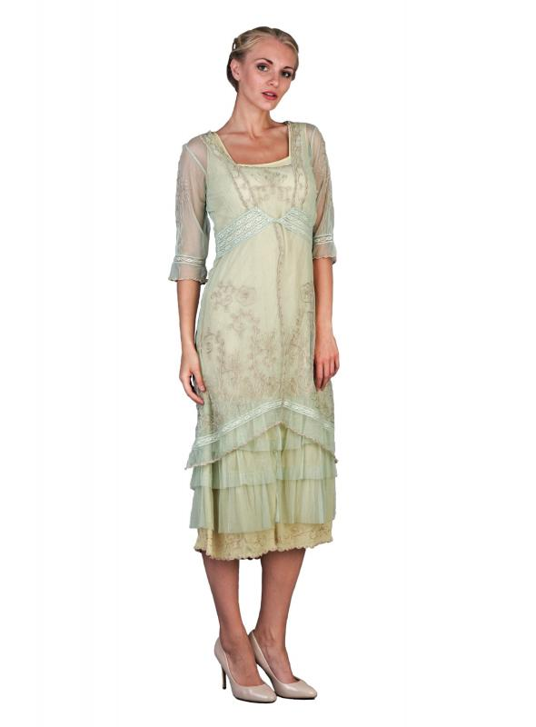 Titanic Tea Party Dress in Mint by Nataya