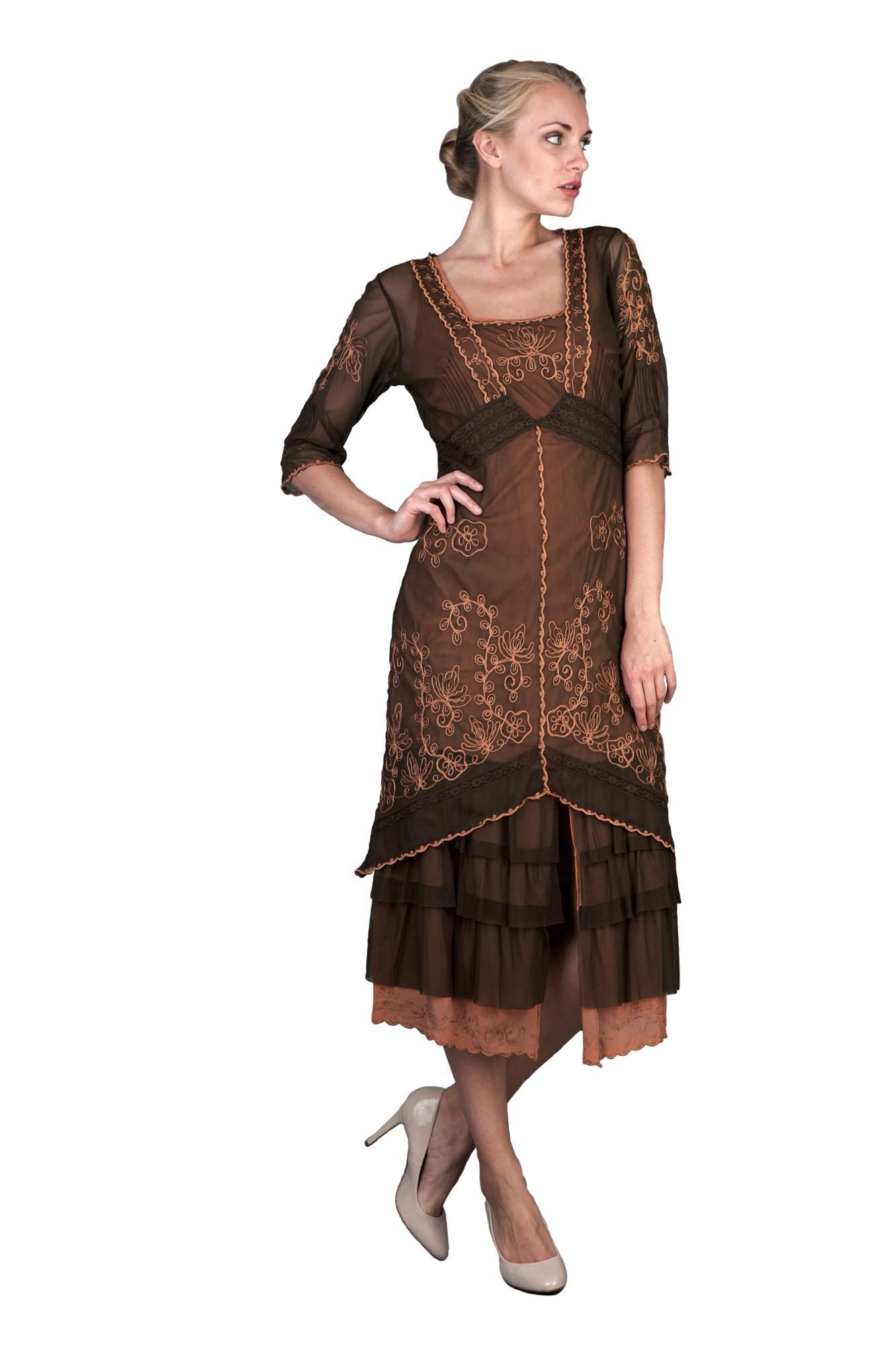 titanic tea party dress in terracottanataya