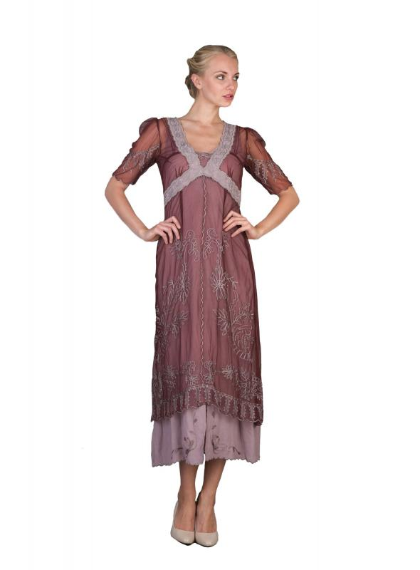 New Vintage Titanic Tea Party Dress in Garnet by Nataya
