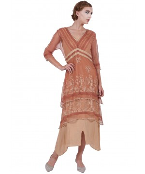 5901 Vintage Titanic Dress in RoseGold