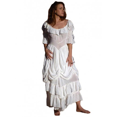 Cowgirl Ruffled Western Wedding Dress by Marrika Nakk