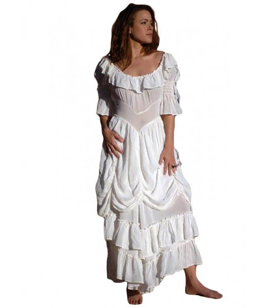 Cowgirl Ruffled Western Wedding Dress by Marrika Nakk