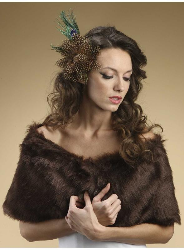 Faux Fur Mink Bridal Wrap