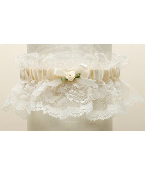 Hand-Sewn Vintage Lace Wedding Garters - Ivory