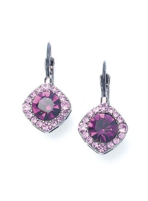 Tailored Amethyst Crystal Drop Earrings