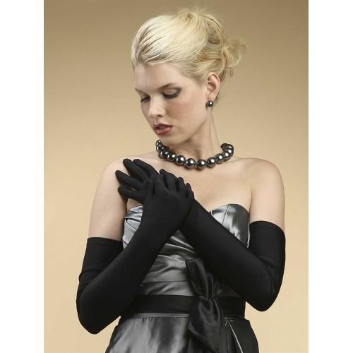 Opera Length Wedding or Prom Gloves - Matte Satin