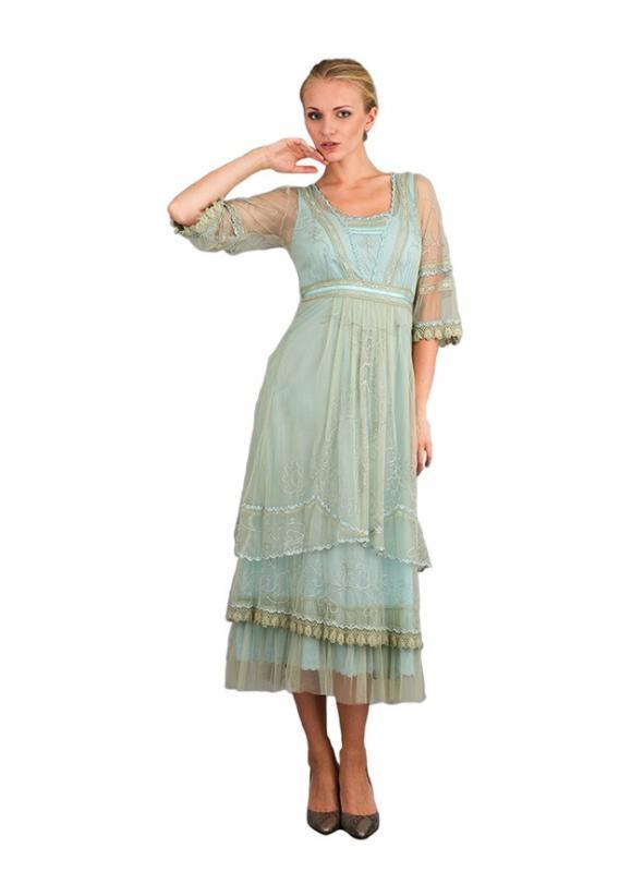 Nataya Art Deco Gatsby Dress in Sage