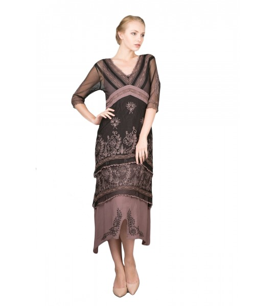 Vintage Titanic Tea Party Dress in Black/Coco by Nataya